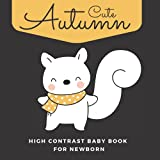 Cute Autumn High Contrast Baby Book For Newborn: Fall Themed Images For 0-12 Months Infants