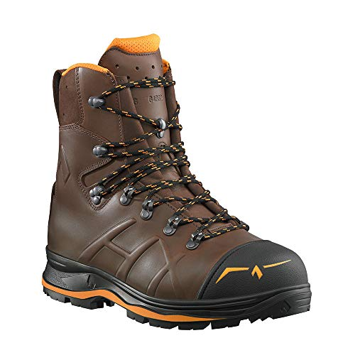 Haix Trekker Mountain 2.0 Der beliebte Schnittschutzstiefel mit orangen Farbakzenten. 41
