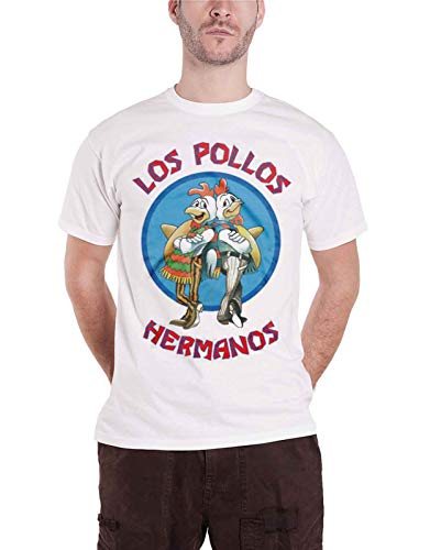Officially Licensed Merchandise Breaking Bad Los Pollos Hermanos T-Shirt (White), Large