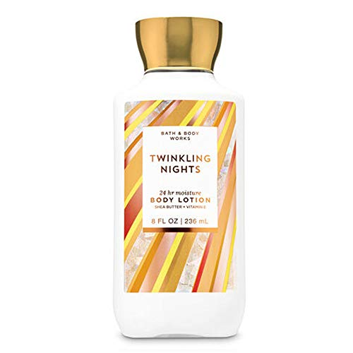 Bath and Body Works Twinkling Nights 24 hr Moisture Super Smooth Body Lotion with Shea Butter & Vitamin E 8 fl oz / 236 mL