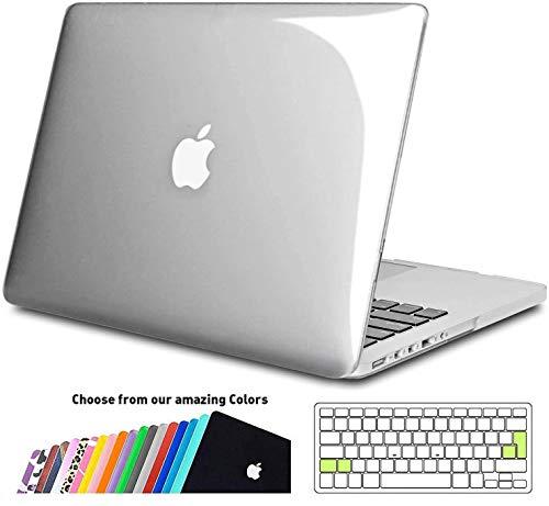 iNeseon MacBook Pro 13-Zoll Hülle Case(A1502/A1425), Ultradünne Hartschale Cover Schutzhülle mit Tastaturschutz für 2012-2015 MacBook Pro 13 Retina(31.4 x 21.9 cm), Kristallklar