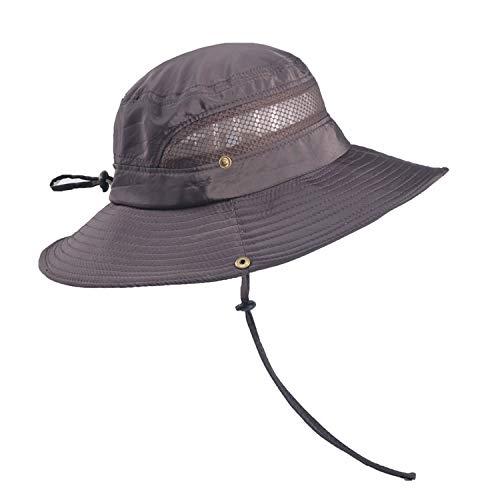 TAGVO Cappelli da Sole a Tesa Larga Maglia Pieghevole Cappelli da Pescatore da Campeggio all'Aria Aperta Escursionismo da Viaggio Cappellino in Visiera per Protezione UV Cappelli Estivi per Uomo Donne