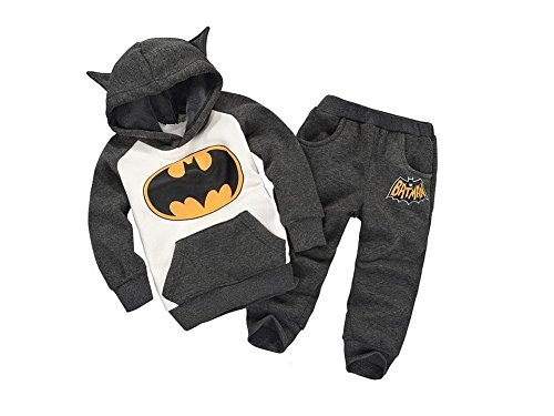 DS (GR. 74-104) cooler ZWEITEILER *ANTHRAZIT* HOSE SWEATSHIRT BATMAN (86/92)
