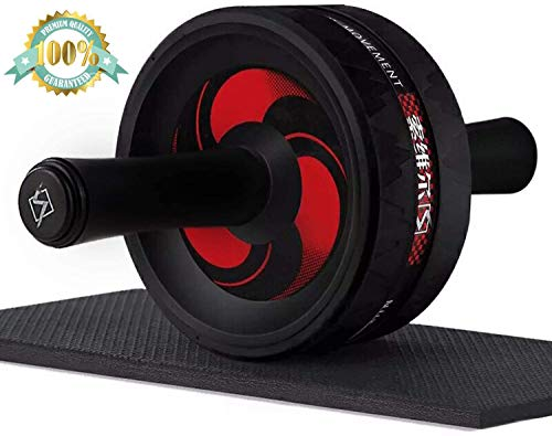 Arespark Ab Roller Wheel for Training - Home Exercise Equipment Perfect Workout Equipment for Abs - Heavy Duty Non-Slip Rubber Wheel - Foam Padded Performance Handles