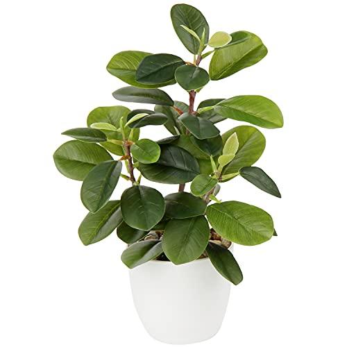 Briful Künstliche Zimmerpflanze Kamelie Kunstpflanze Camellia Japonica im Kunststofftopf Dekorative Seidenblumen Kamelie Kunstblumen für Home Hotel Dekoration
