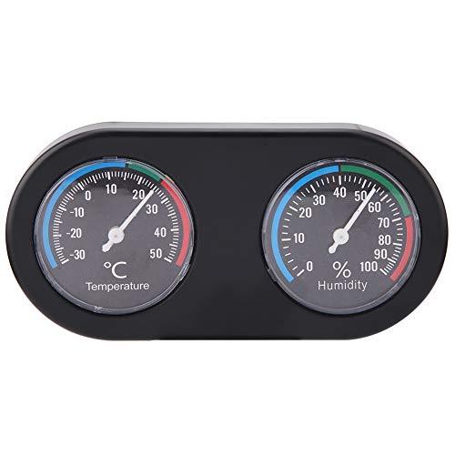 Eurobuy Termometro e igrometro per rettili Conservatore di Acquario per Serbatoi/terrari, Monitor di umidità per Temperatura Forma Rotonda