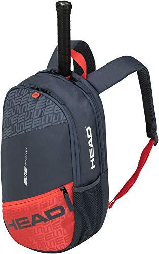 Head Elite Backpack Bolsa de Tenis, Adultos Unisex, Gris/Naranja, Talla única
