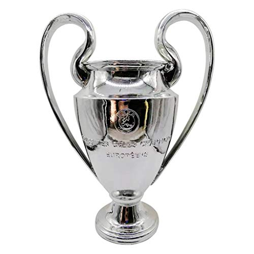 """2020 UEFA Champions League Trophy Football Trophy with Red and White Ribbons 2020 Bayern Munchen Winner Champions of European Trophy for Fans, Souvenir (Size : 15.5cm/6.1"""")"""
