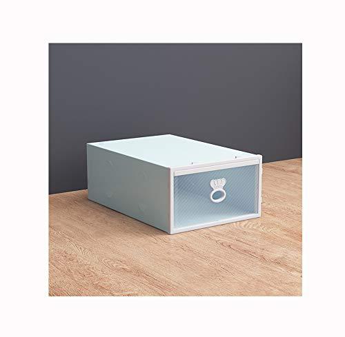 NAXIAOTIAO La Caja De Zapatos, Caja De Plástico Espesar Cajón, Zapato, Zapatos Bastidores Pequeños Caja De Almacenamiento De Cosméticos, Fácil De Tomar, Sin Olor (2 Piezas),Verde
