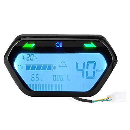 Deror Medidor de Motocicleta 48V/60V Velocímetro Odómetro Tacómetro Pantalla LCD Digital Universal para Motocicleta eléctrica