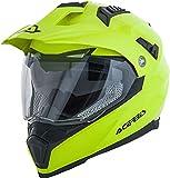 Acerbis Casco Moto Integrale Flip Fs-606 Enduro S Helmet, Hombre, Amarillo, XS