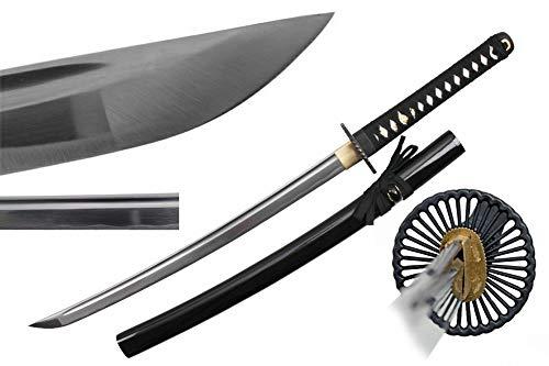 "Katana Sword Samurai Sword Real Swords with 1045 Carbon Steel Metal Blades Wakizashi Training Sword Practice Sword Tactical Sword Real Sword Ninja Sword Samurai Costume Sword 50100 (Wakizashi - 34"")"