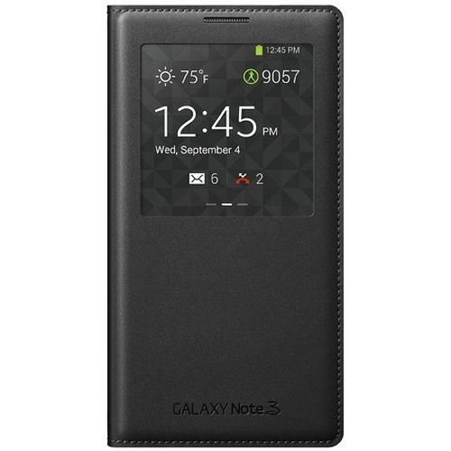 Samsung Galaxy Note 3 Wireless Charging Case S View Flip Cover Folio - Black
