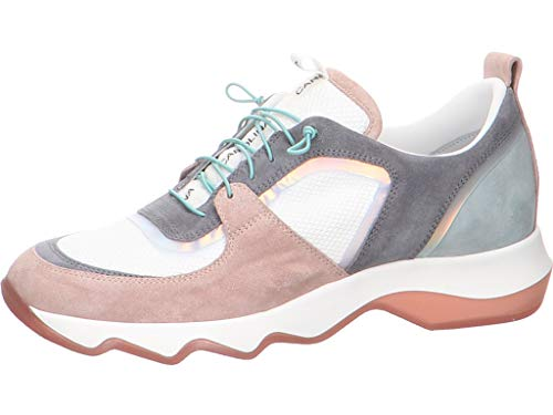 Donna Carolina Damen Sneaker mit Wechselfußbett Größe 39 EU Weiß (weiß)