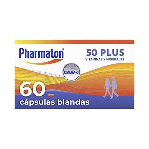 Pharmaton 50+| Multivitamínico con Omega 3 | 60 cápsulas