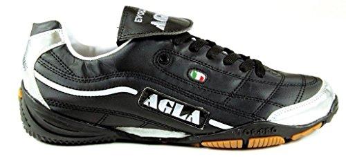 Agla Evolution Top 1 Scarpe Da Futsal Indoor, Nero/Argento, 27 cm/42.5