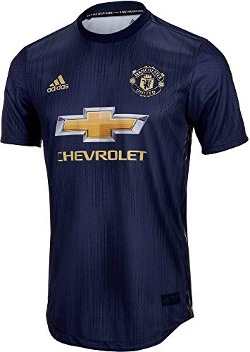 adidas Men's Manchester United Authentic Third Jersey (Small) Collegiate Navy/Night Navy/Matte Gold