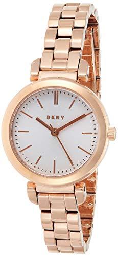 DKNY Damen Analog Quarz Uhr mit Edelstahl Armband NY2592