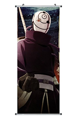 CoolChange Großes Naruto Rollbild / Kakemono aus Stoff Poster, 100x40cm, Motiv: Obito Uchiha / Tobi