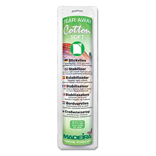 Madeira Tear Away Cotton Soft Stabilizer 12 in. x 11 yd. White