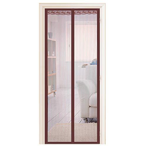 HDGAB Balkontüren Aus Fliegendem Garn, Selbstklebende Klettverschlüsse, Innen- Und Außentüren, Küchentüren, Klimatisierte Räume, Geschäfte(Size:100 * 210 cm,Color:Kaffee)