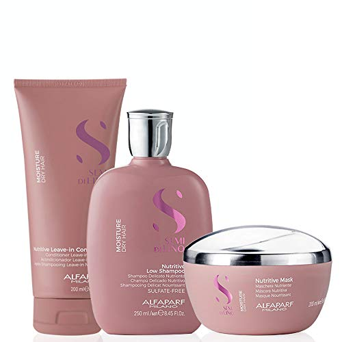 Alfaparf Milano Semi Di LINO Moisture Dry Hair Nutritive Shampoo/Conditioner/Mask Kit Home Care