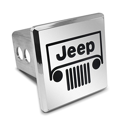 Jeep Grill Billet Aluminum 2 Inch Tow Hitch Cover