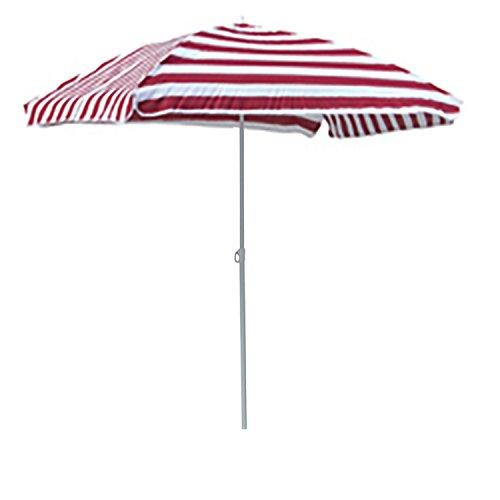 ombrellone da giardino 180 cm FineHome Ombrellone da spiaggia con borsa pieghevole rettangolare rosso bianco a righe 120 x 180 cm