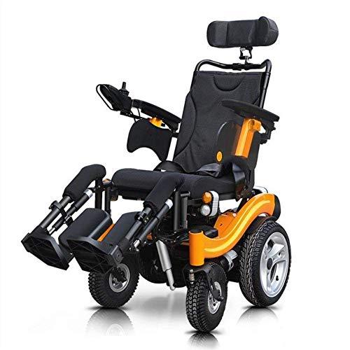 HFJKD Rollstuhl Rollstuhl, medizinischer Reha-Stuhl für Senioren, alte Menschen, elektrischer Rollstuhl Der Roller eines Alten Mannes kann in Einer behinderten Offroad-Rollstuhl-Rückenle