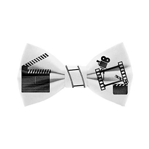 Pajarita Claqueta de Cine. Colección de moda hombre. Diseño divertido especial para cinéfilos. Hecha a mano en España. Regalo original y exclusivo