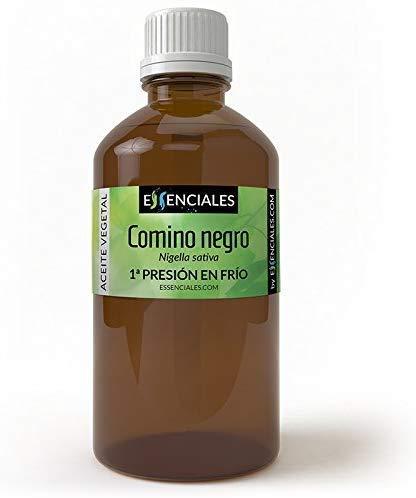 Essenciales - Aceite Vegetal de Comino Negro, 100% Puro y Natural, 30 ml | Aceite Vegetal Nigella Sativa, 1ª Presión Frío