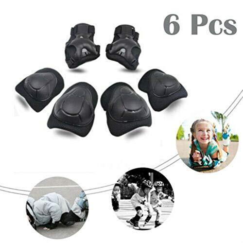 ConPush 6X Schutzausrüstung Set Knieschoner für Kinder Handgelenkschoner Ellenbogen Pads