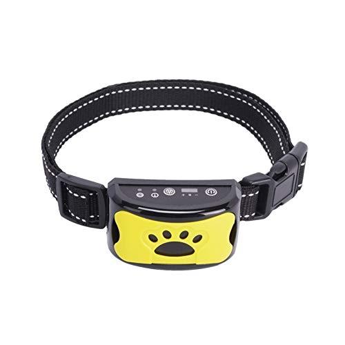 Sdesign Hunde-Trainingskragen, Hunderindekragen 2in1 Anti-Bellen-Gerät mit 7 Sensitivitätsniveaus aus Ton oder Vibration und freierstellbarer Gürtel für 15lbs ~ 120 lbs Hunde