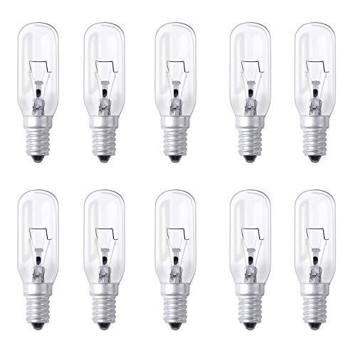 Poweka Dunstabzugshaubelampe Backofenlampe E14 40W 300 Grad T14 klar Lampe 240V 2700K warmweiß 10 Stück