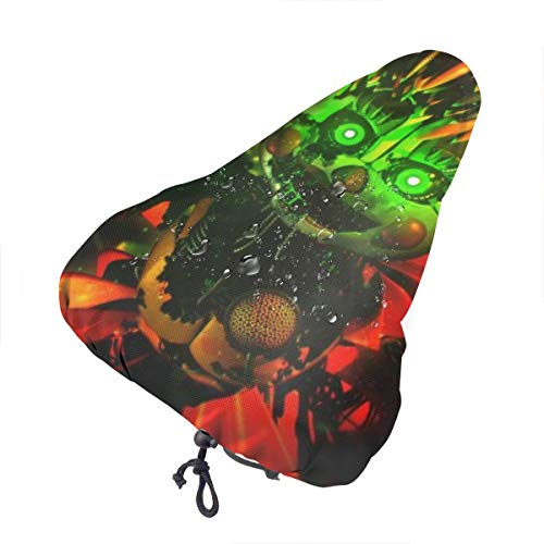 YouNood Homewifi Bike Seat Cover,Five Nights at Freddy's Waterproof Dust-Proof Saddle Cover Bike Seat Cover, Protective Water Resistant Bicycle Saddle Cover