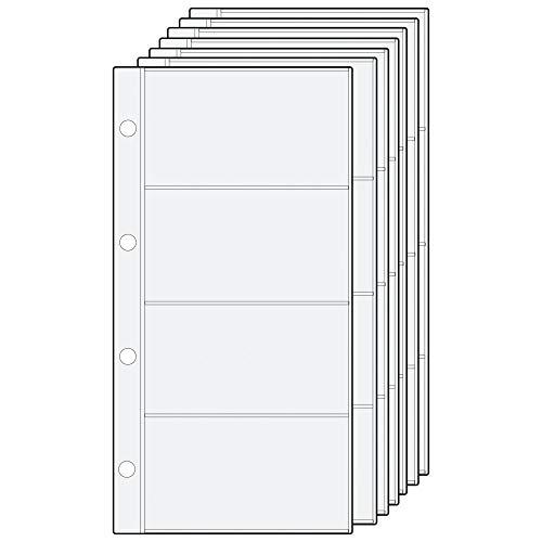 Alassio 1012 - Inserti di ricambio per raccoglitore ad anelli da visita, inserto in PVC, trasparente, 10 fogli con 4 scomparti ciascuno, inserto ca. 11 x 23 cm, con divisori A - Z