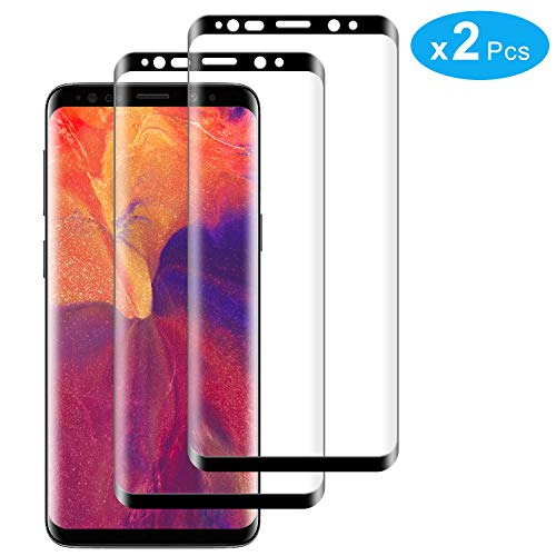 RIIMUHIR Protector De Pantalla De Vidrio Templado para Samsung Galaxy S8 Plus Protector De Pantalla Anti-Aceite De 2 Paquetes 99% Táctil Precisa Alta Definición