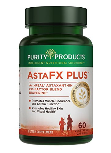 AstaFX Plus - Astaxanthin Super Formula - 30 Day Supply from Purity Products - Supports Endurance - Promotes Healthy Skin - Supports Visual Health - Up to 6,000 Times More Powerful Than Vitamin C