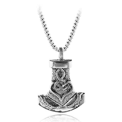 HHW Amuleto Escandinavo Colgante De Martillo Estilo Punk Vikingo Thor Vintage Collar