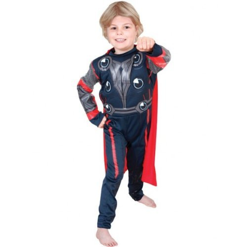 The Avenger - Déguisement - Costume Deluxe poitrine musclee - Thor Taille enfant small 3 / 4 ans
