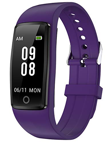 Willful Fitness Tracker No Bluetooth Simple No App No Phone Required Waterproof Fitness Watch Pedometer Watch with Step Counter Calories Sleep Tracker for Kids Parents Men Women Updated Ver (Purple)