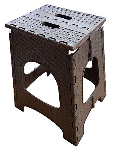 Klapphocker/Klapptritt/Fußbank/Triffstufe/Falthocker aus Kunststoff, Faltbarer Tritthocker stabil bis 150 kg Maße: ca. 36 x 44,5 x 32 cm