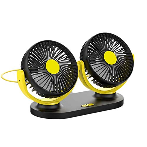 Qqww Portable USB Mini Fan,Rechargeable Battery Operated with Long Battery Life, Quiet, Adjustable Speeds Mini Portable Desktop, Best for Baby Stroller, Car, Gym, Office, Outdoor, Travel, Camping