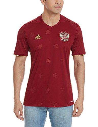 adidas Herren UEFA Euro 2016 Russland Heimtrikot Replica Trikot, Collegiate Burgundy/Dark Football Gold, S