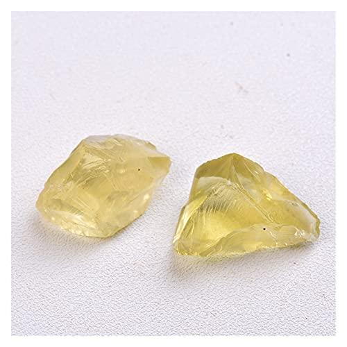 YSJJJBR Piedra Natural 1 UNID Cristal Natural Citrine 10-30mm Cristal Kies Muestra Reparación Roca Minal Curación de Piedra Regalo de Piedra Accesorios de Acuario Decoración del hogar