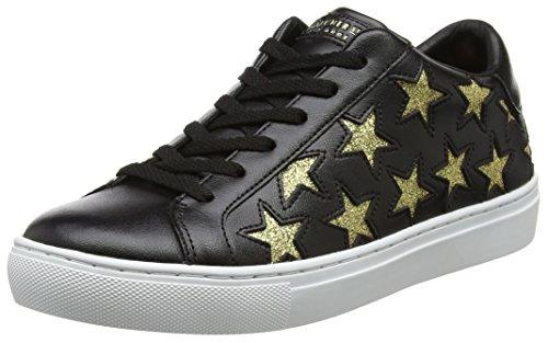 Skechers Side Street, Zapatillas Mujer, Negro (Black/Gold), 36 EU