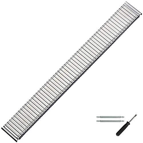 MARBURGER Uhrenarmband 20mm Edelstahl Silber - Werkzeug Montage Set 86601200020