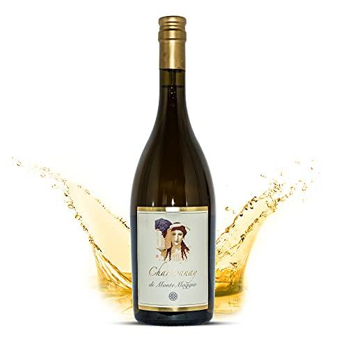 Montemaggio - Vino Bianco Biologico Toscano Secco | Chardonnay di Montemaggio | Fresco, Fruttato, Fine | 100% Chardonnay | IGT | Tappo Vetro | Elegante e Leggero | Regalo per Amanti del Vino | 0.75L