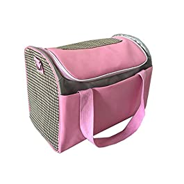KAILLEET Pet Handbag Out Cat And Dog Messenger Bag PU Breathable Pet Luggage