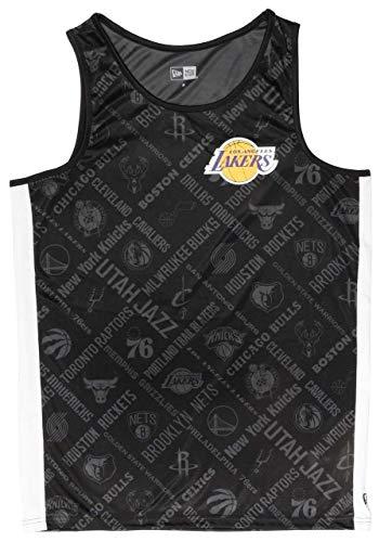 New Era Los Angeles Lakers T Shirt/Tanktop NBA AOP Tank Black - XL